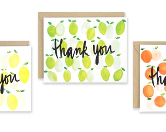 Citrus Thank You Note Set