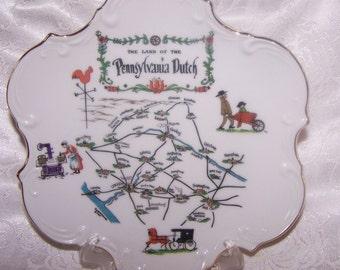Pennsylvania Amish Souvenir Plate Land of the Pennsylvania Dutch Lancaster County S 530 Horse and Buggy