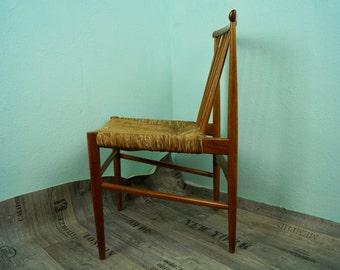 4 x 50's chairs, oak, fabric, retro, mid century Chair