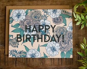 Happy Birthday, Happy Birthday Card, Birthday Wishes, Happy birthday wishes, Happy Birthday Flowers Card