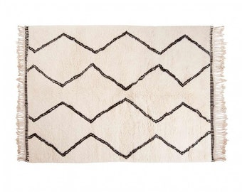 High Quality Naima: Moroccan Rugs Beni Ourain Style Berber Handmade Fair Trade All Sizes  Wool, Clearance