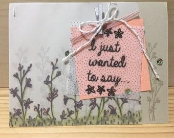 Handmade Thank You Greeting Card Stampin Up