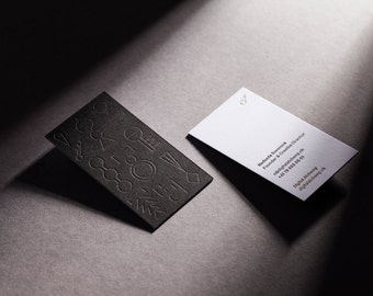 Double sided custom letterpress business cards - 2+1 colours