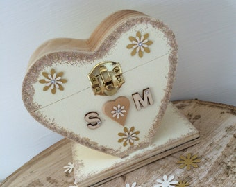 Personalised Heart Shaped Wish Tree Tag Holder, For Your Wedding Reception Plus 60 Wish Tree Tags