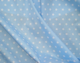 Fabric light blue with white stars
