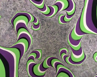 optical illusion - acrylic painting on canvas