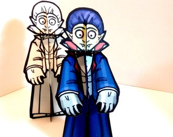 Dracula Vampire Monster Paper Doll Set - Printable Toy