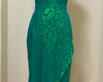 Green leafs gown