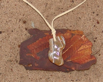 Free form agate pendant