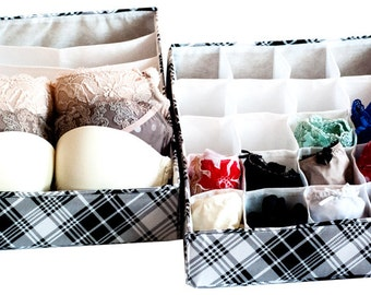 2 Pcs Classic Set Lingerie Organizers, Underwear Organizers, Underwear  Storage, Storage Boxes For