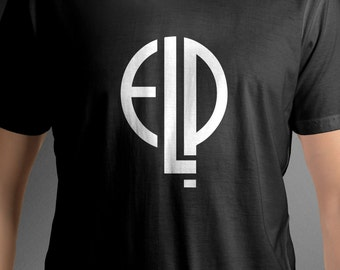 Emerson Lake and Palmer band logo shirt music tee C53