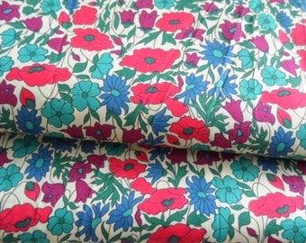 liberty fabric poppy and daisy
