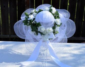 Rose Garland Bridal Hat