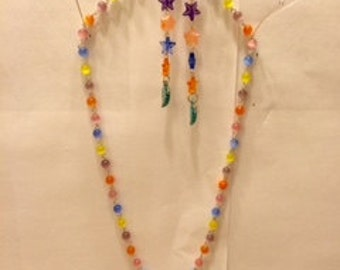One-of-a-kind Handmade Necklace and Earring