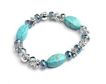Multi Stone Gem Bracelet