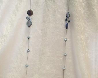 Blue Handmade Beaded Necklace (CC-0416-22)