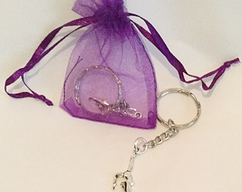 Gymnastics Keyring Keychain Bag Charm