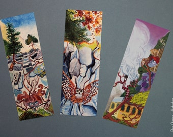 Lot of three illustrious bookmarks: inspiration mountain