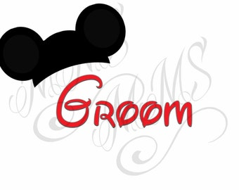 Groom Bride Mickey Wedding Mickey Mouse Head Disney Family Download Iron On Craft Digital Disney Cruise Line Magnet Shirts