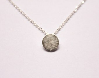 Circle Necklace - Silver Circle Necklace - Silver Plated - Circular Geomeric Necklace - Simple Round Necklace - Geometric Style - Gift
