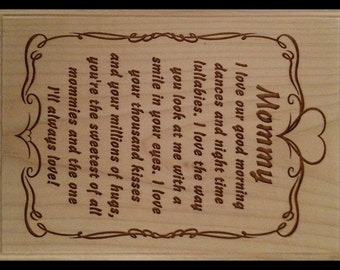 Mommy Poem Plaque