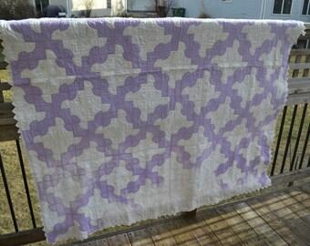 Drunkards Path Vintage Cotton Quilt 2