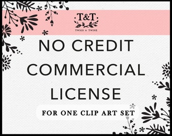 Commercial No Credit License - One Clip Art Set