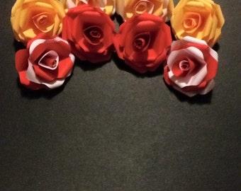 Medium paper roses x8