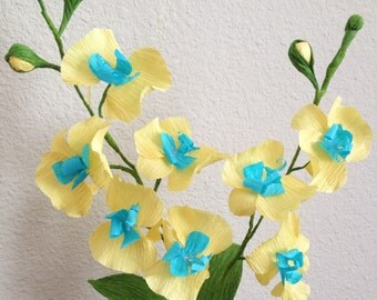 crepe paper orchids/beautiful handmade paper orchids