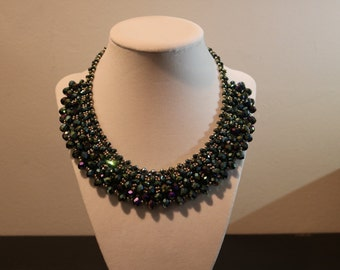 Handmade Beaded Statement Necklace