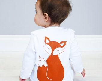Fox Baby Sleepsuit - Fox Baby Shower Gift