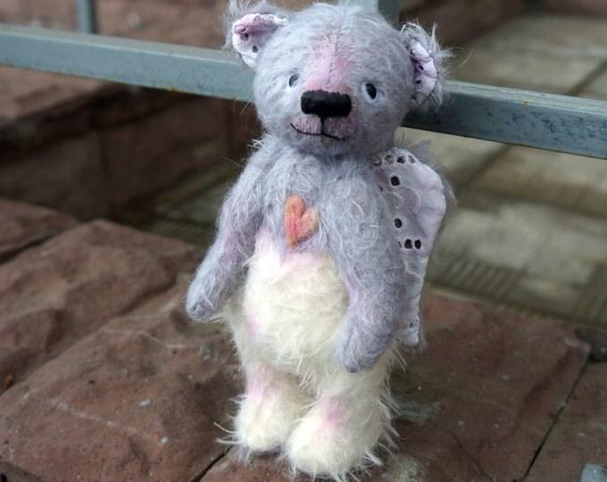OOAK Earth Angel Bear, Teddy bears, little angel, angel teddy bear, soft toy teddy bear, Teddy Bear artists , OOAK teddy bear with