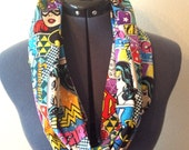 Women of DC Comic Book Style Infinity Scarf