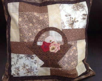 Hand Appliqued and Quilted Pillow Case