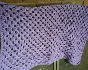Purple Baby Blanket Granny Square - 62016 008