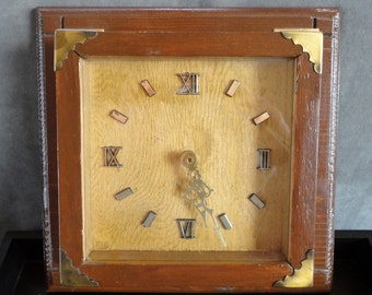 Retro Square Wall Clock with Junghans Mechanism