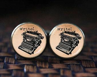 Old Typewriter cufflinks, Vintage Typewriter cufflinks, Writer cufflinks, gift for Writer