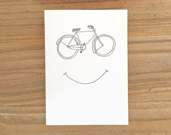 Happy bike lovers card