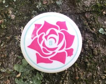 "Rose' 1"" Gum Red Pin"