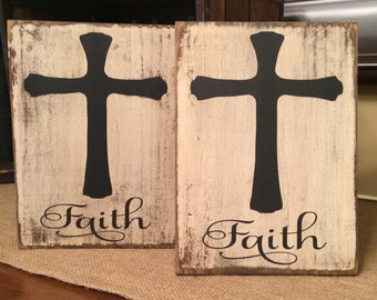 Faith sign with cross