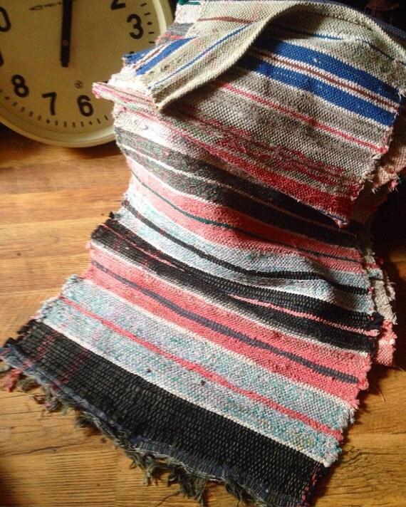 SALE Antique Handwoven Rug Rustic Rug Floor Runner Rug