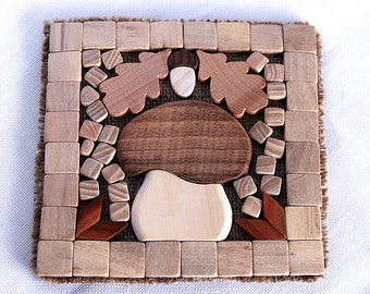 Wooden trivet Wood trivet Hot mat Pot holder Stand for hot Heat protection pad Trivet for hot  Eco stand Wood mat Stand hot Hot mat