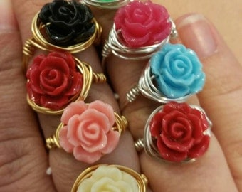 Floral wire wrap rings...perfect for spring!