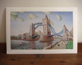 London print - Tower bridge print - limited edition giclee print - London art