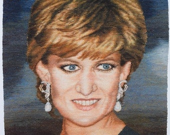 Handwoven Tapestry - LADY DI