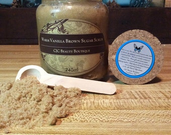 Warm Vanilla Brown Sugar Scrub