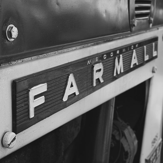Farmall Tractor Photograph - Fine Art Print - Black White Photography - Home Wall Decor - Farm House Decor - Antique Tractors - Boys Room