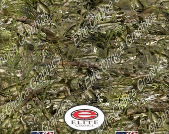"""Bass Camo  52""""x6ft Wrap Vinyl Truck Camo Car SUV Tree Real Camouflage Sticker Decal"""
