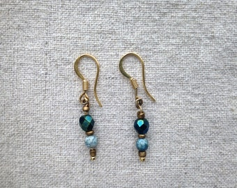 BLUE DROPS. Earrings.