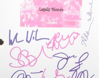 Legally Blonde Signed Movie Film Screenplay Script Autographs Reese Witherspoon Luke Wilson Selma Blair Jennifer Coolidge Alanna Ubach